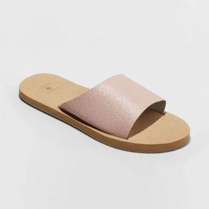 Shade & Shore Asymmetrical Slide Sandals